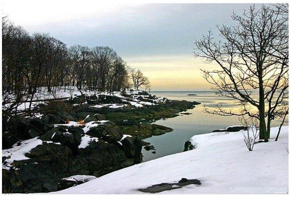 冬天窗外的风景图片