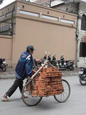 Livraison de briques