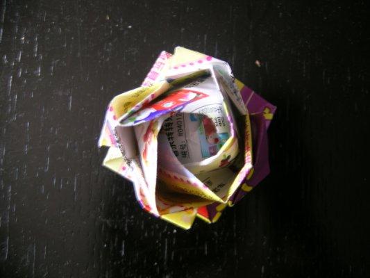 平面折纸花大全图解法