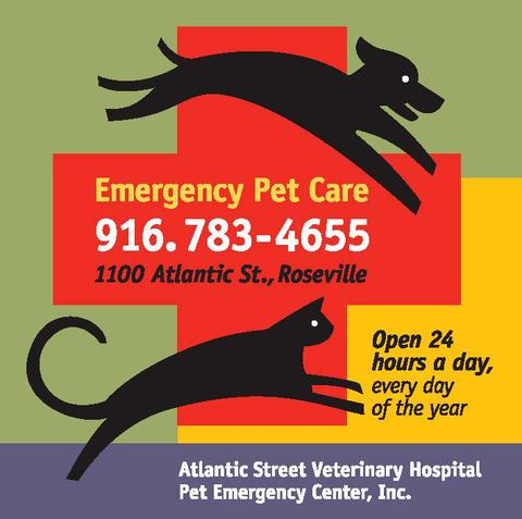 Atlantic Street Veterinary Hospital Pet Emergency Center   1100 Atlantic St, Roseville, CA, 95678   +1 (916) 783-4655